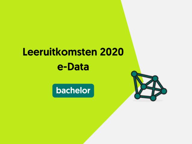 Leeruitkomsten 2020 e-Data