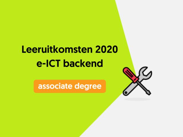 Leeruitkomsten 2020 e-ICT backend
