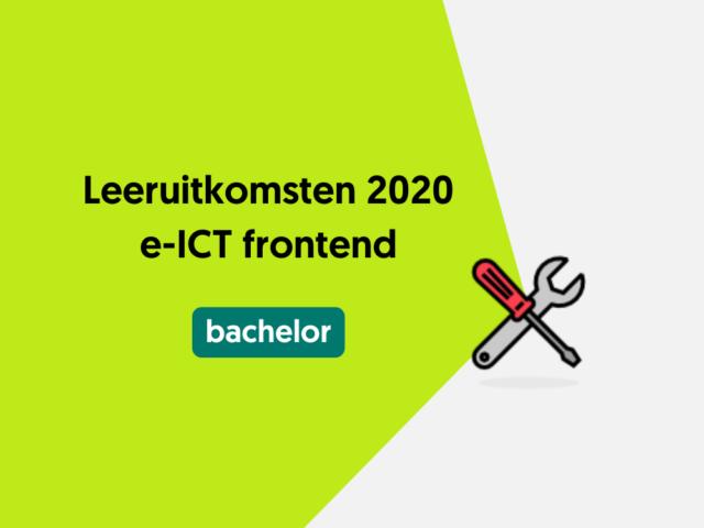 Leeruitkomsten 2020 e-ICT frontend