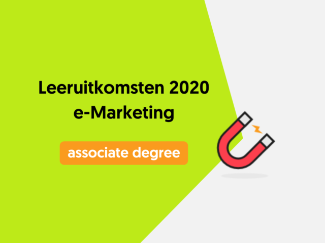 Leeruitkomsten 2020 e-Marketing