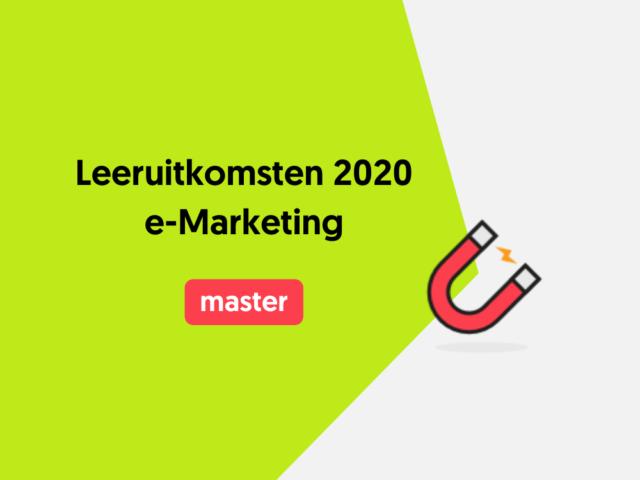 Leeruitkomsten 2020 e-Marketing