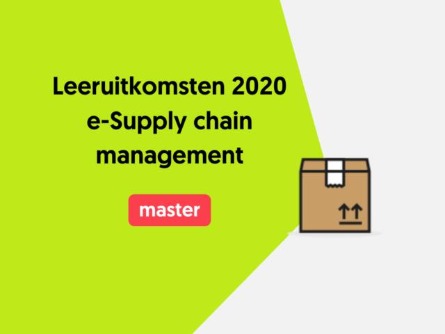Leeruitkomsten 2020 e-Supply
